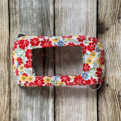 White Red Yellow Multi Floral