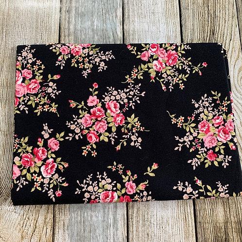 Black Floral Print Pre-o