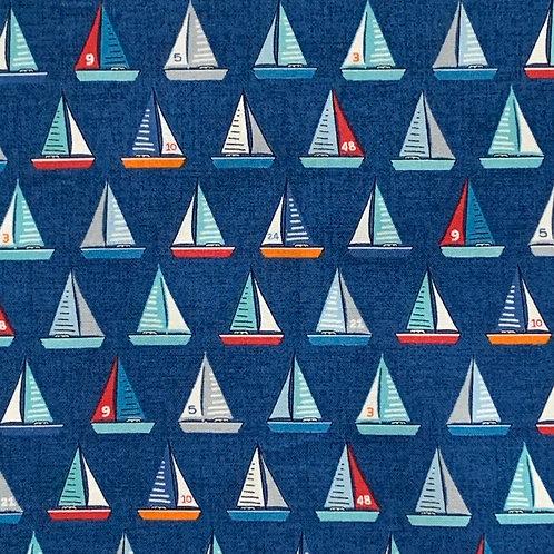 Blue Yacht Print