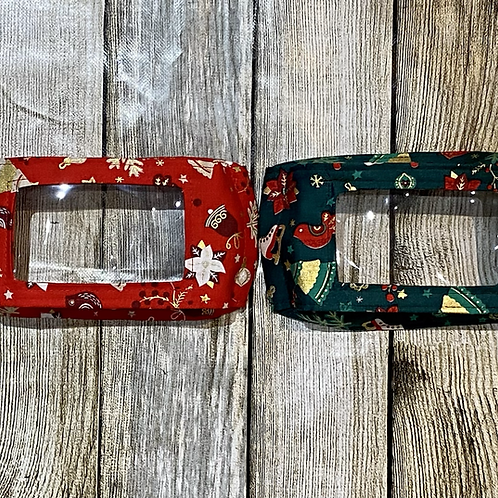 Christmas Red or Green with Gold Shimmer Pattern