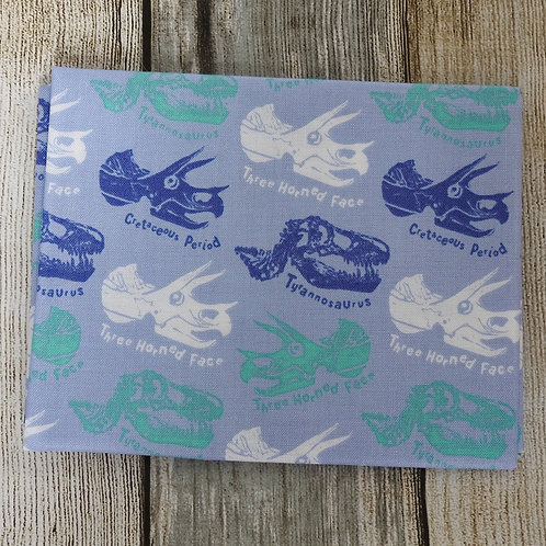 Light Blue Dinosaurs Print
