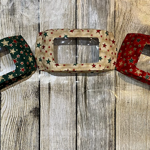 Christmas Red or Green or Gold Stars Shimmer Pattern