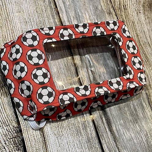 Red Football Print