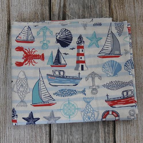 White Nautical Sea Theme Print