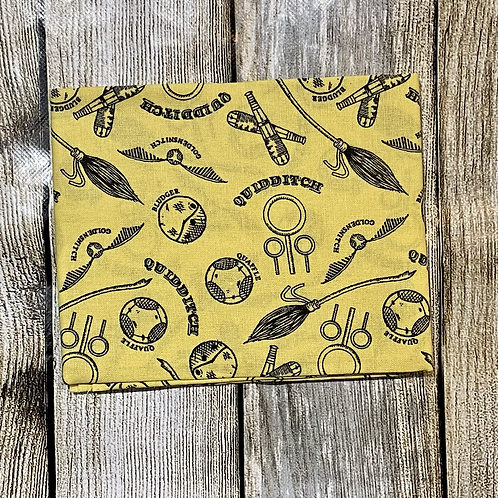 Yellow Harry Potter Quidditch Pattern S/C