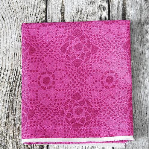 Fuschia Pink Flower Dots