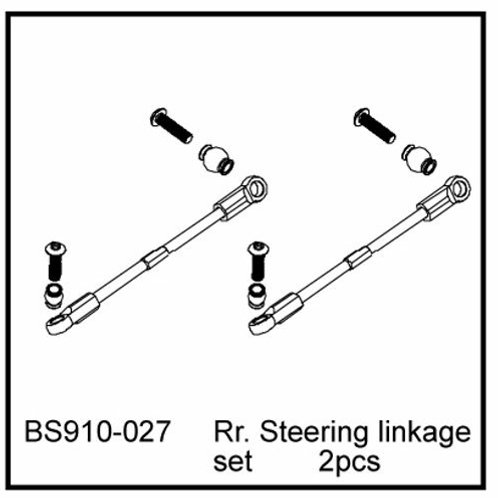 Rr. Steering linkage set - BS910-027 - Rcbilen.no