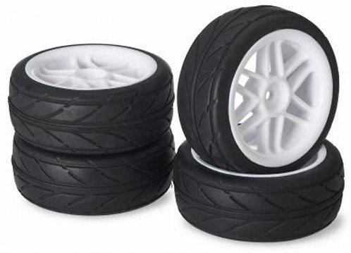 ABSIMA WHEEL SET ONROAD 6 SPOKE / PROFILE WHITE 1:10 4stk - Rcbilen.no