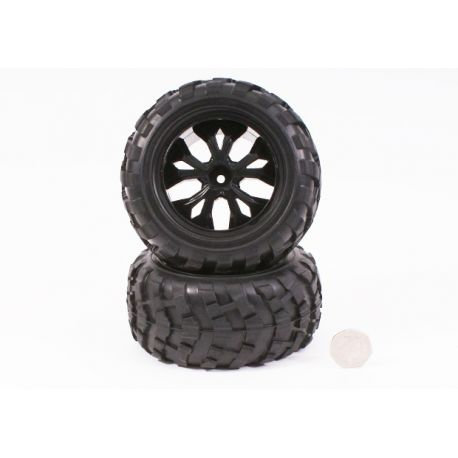Monster Tire unit (Black rim) - BS910-041 - Rcbilen.no
