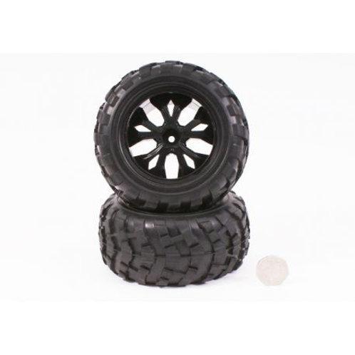 Monster Tire unit (Black rim) - BS910-041 - Rcbilen.no