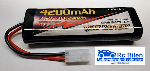 RACING PACK 4200mAh – 7.2v NiMH – Tamiya - Rcbilen.no