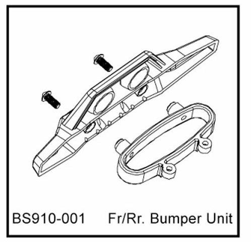 FR/RR. Bumper Unit - BS910-001 - Rcbilen.no