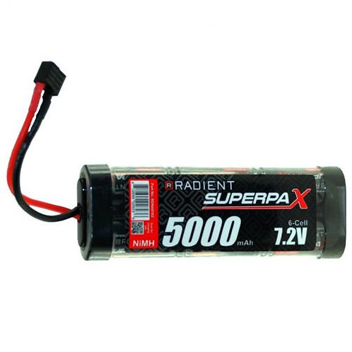 BATTERY SC 7.2V 6 CELL 5000 mAh NIMH DEANS/T-plug - Rcbilen.no