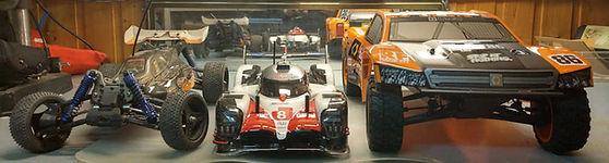 3 Rc biler størrelse forhold på 1:10 biler - Rcbilen.no
