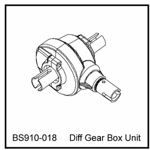 DIFF Gear box unit - BS910-018 - Rcbilen.no