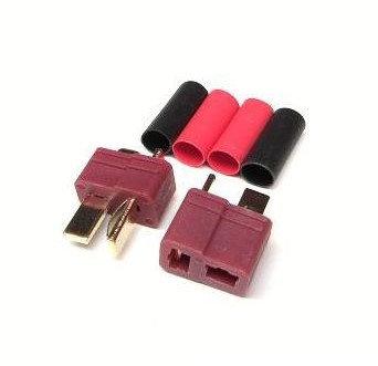 Deans - T-plugg Par connector (housing/pin) - Rcbilen.no