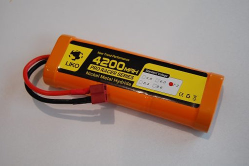 RACING PACK 4200mAh – 7.2v NiMH – DEANS/T-plug - Rcbilen.no