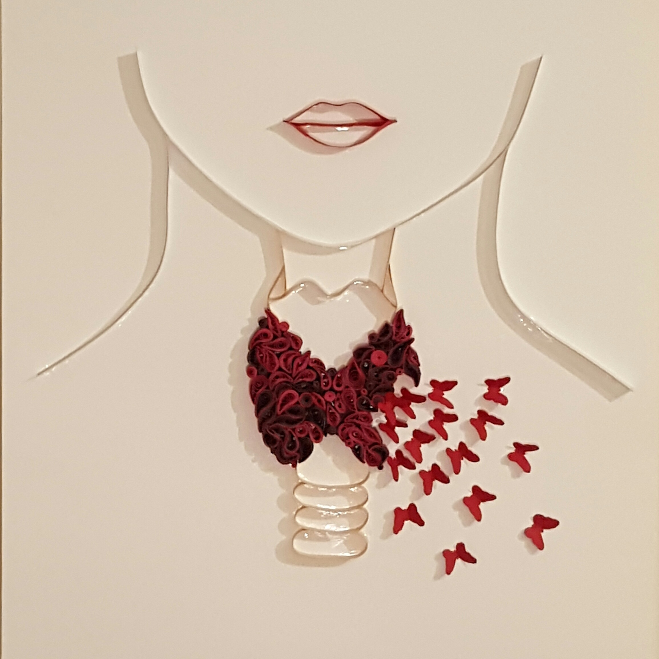 Thyroid / paper art