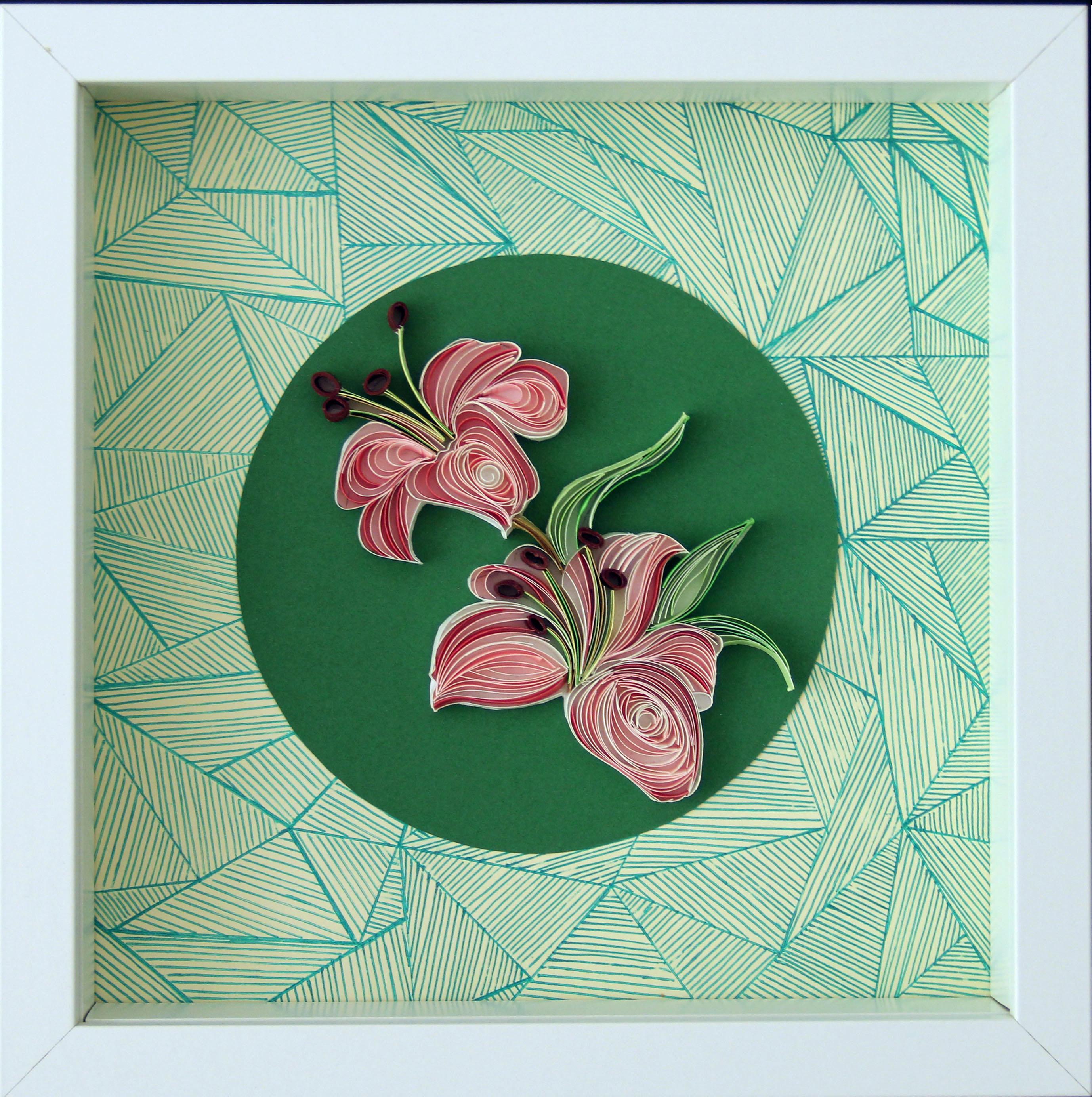 lilies / paper art