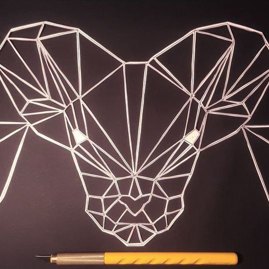 aries / paper cut