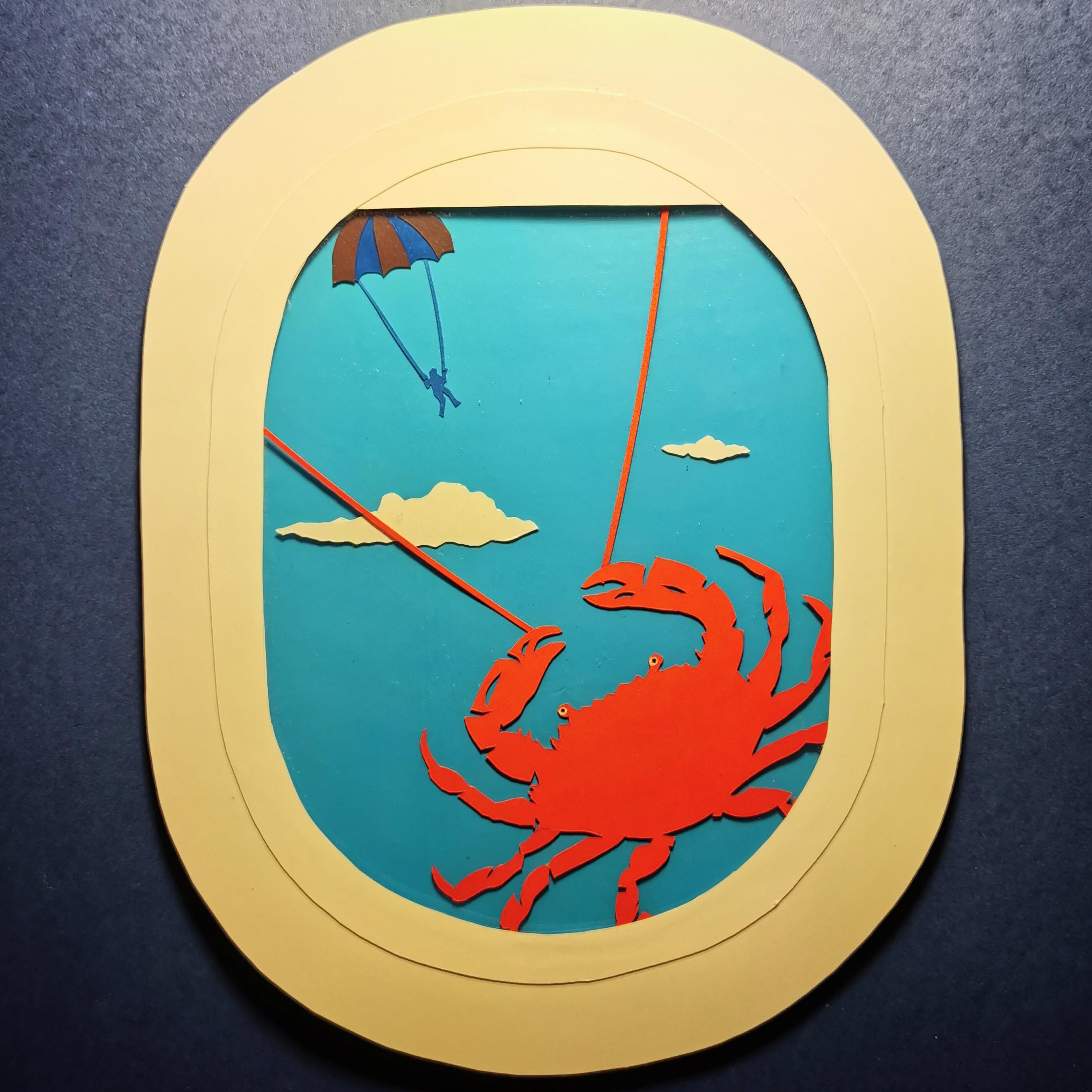 Crab / paper art