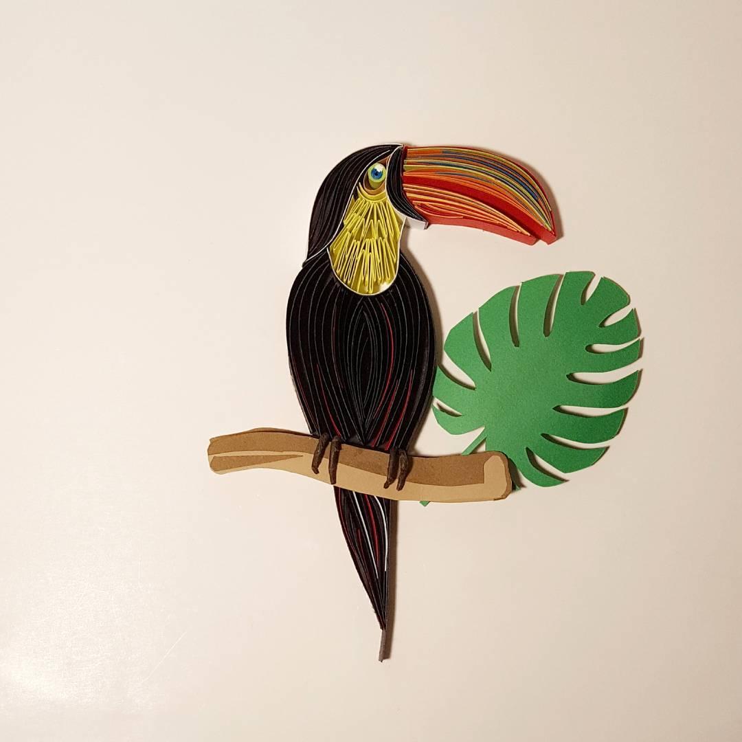 Toucan / paper art