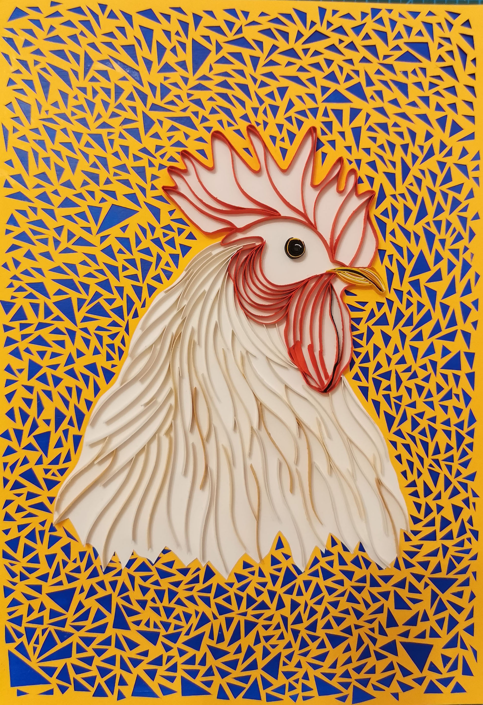 Rooster /paper art