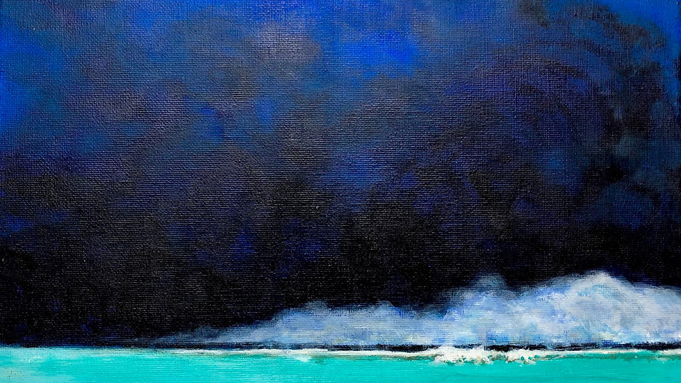 Black Clouds Turquoise Water