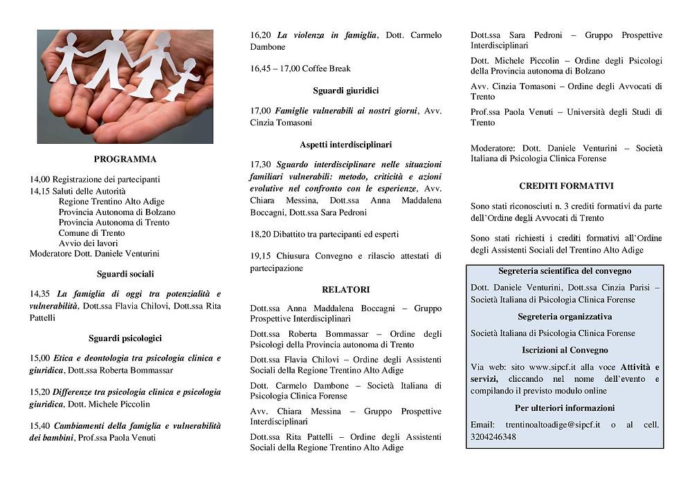 Convegno psicologia giuridica Trento