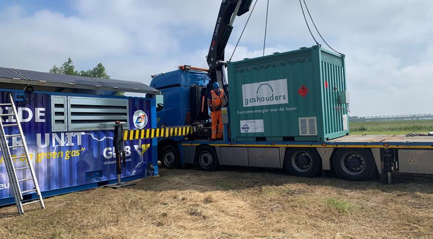 Transport 10ft biogascontainer
