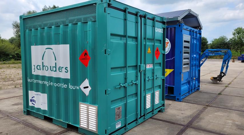 10ft biogascontainer in bedrijf