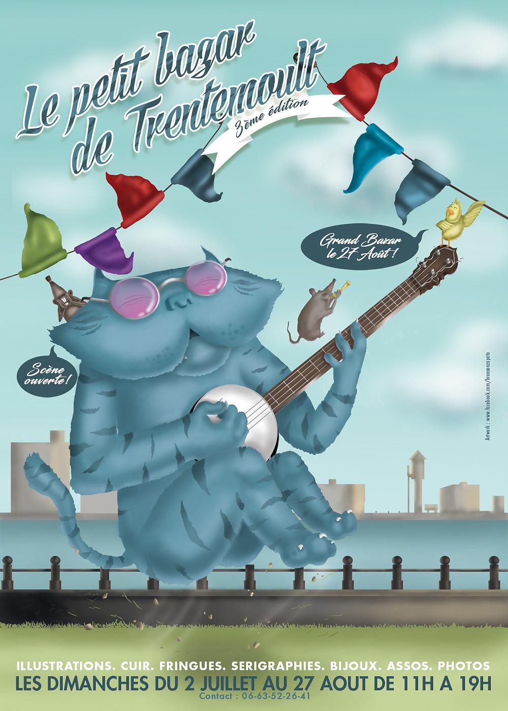 Les créations de BENETOC seront au Petit Bazar de Trentemoult ce dimanche 23