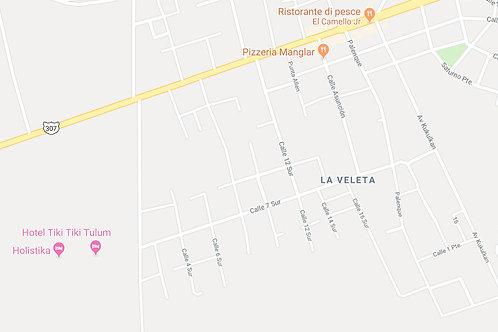 La Veleta, Tulum, 1.150 sqm  close to 5 Avenida. 220 usd/sqm.