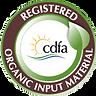 Registered Organic Input Material