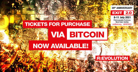 EXIT Festival Launches Bitcoin Payment For Ticket Sales
