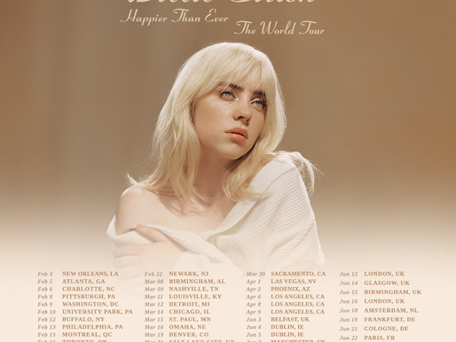 Billie Eilish Announces North American, European and UK Tour Dates.  'Happier Than Ever' Out July 30