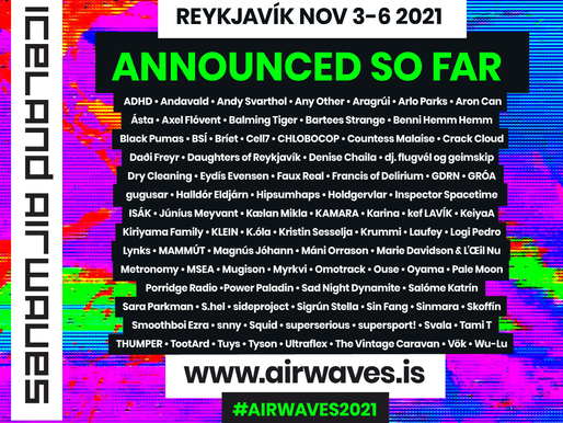 Iceland Airwaves returns this Nov, 28 names added today!