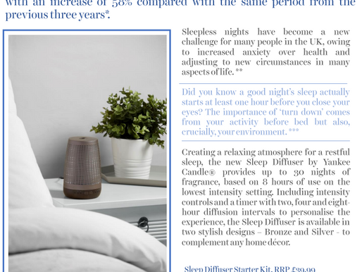 Sleep Good and feel good with the new sleep diffuser by Yankee Candle