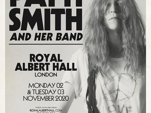 PATTI SMITH LONDON ROYAL ALBERT HALL MONDAY 02 NOVEMBER   TUESDAY 03 NOVEMBER