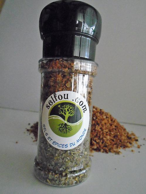 sel fou DE LA CÔTE (fumé)moulin 80g