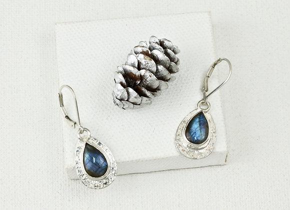 labradorite teardrop sterling earrings