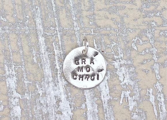 BC1687 Gra Mo Chroi Disk Pendant
