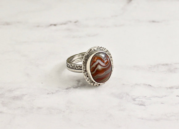 Laguna Agate/sterling ring size 8