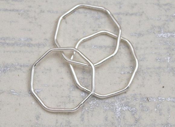 Sterling Octogon ring set