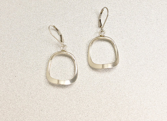 curved trapezoid sterling earrings