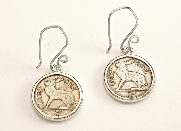 #915 Bunny Coin Earrings