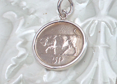 Small Bull Coin Pendant