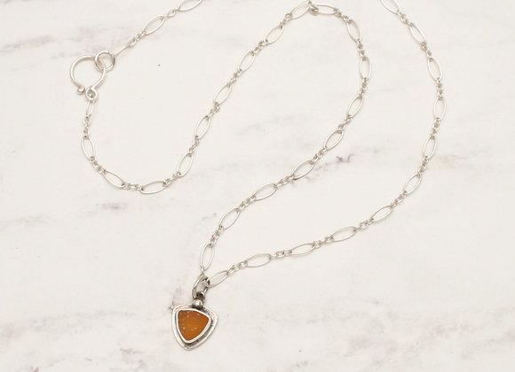 ss druzy triangle necklace
