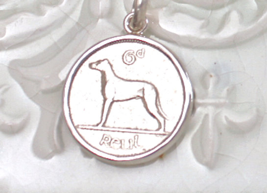 BC713 Wolfhound Coin Pendant