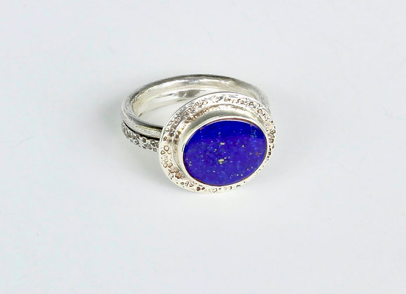lapis sterling ring size 8